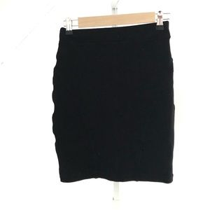 Aritzia Wilfred Free Black Mini Skirt